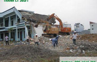 phá dỡ thu dọn công trường nhà dân